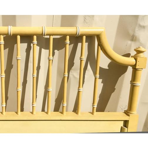 Vintage Hollywood Regency Faux Bamboo Queen Bedframe - Image 5 of 7