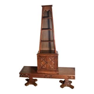 Drexel Heritage A-Frame Shelf Tower Display Shelf For Sale