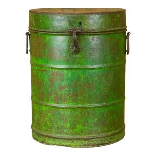 Verde Wheat Grain Metal Jodhpuri Drum Container For Sale