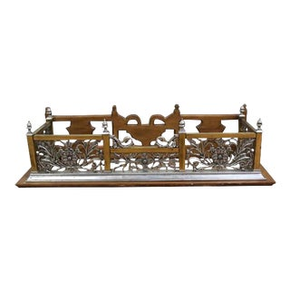 Art Nouveau Style Fireplace Surround Bench Fender Architectural Wall Shelf For Sale
