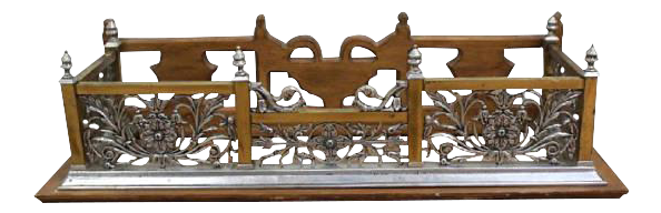 Art Nouveau Style Fireplace Surround Bench Fender Architectural Wall Shelf