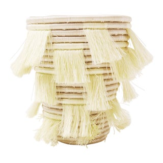 Handwoven Sweetgrass Eyelash Basket - Citron