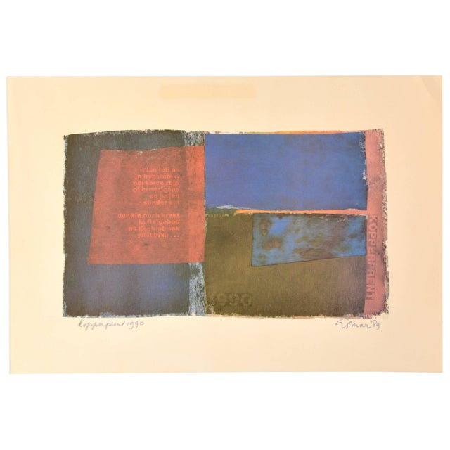 Mid-Century Modern Signed Composition by Jan Loman, 1990 For Sale - Image 3 of 3