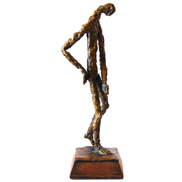 Brutalist Standing Man Sculpture - Image 1 of 4