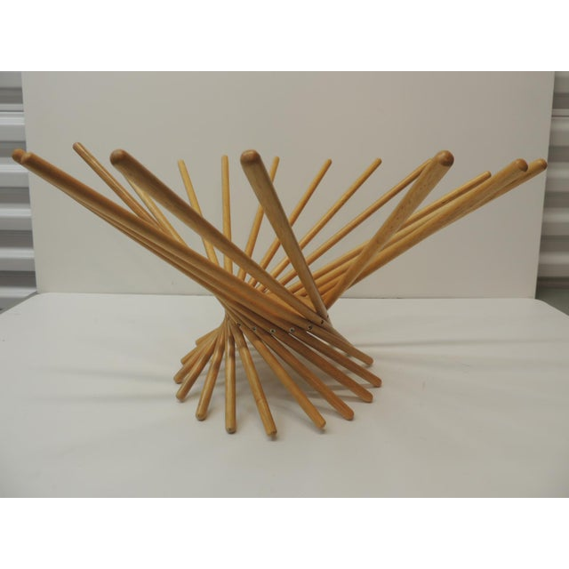 Mid-Century Modern Mid-Century Modern Folding Wood Fruit Basket From MoMa For Sale - Image 3 of 6