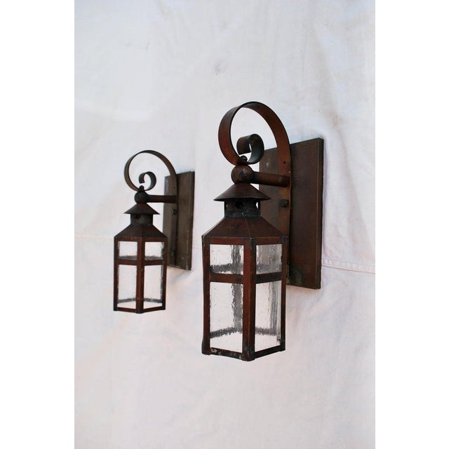 American 1930s Copper Outdoor Sconces - a Pair For Sale - Image 3 of 5