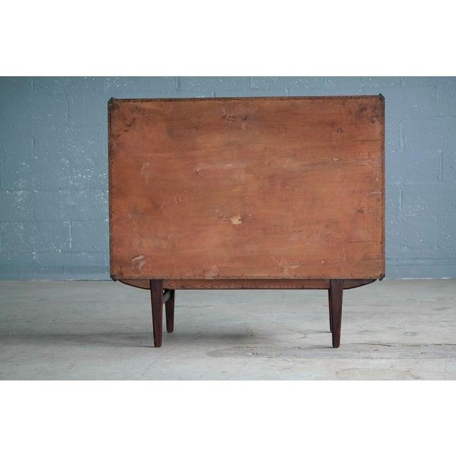 Vintage Danish Mid-Century Rosewood Five-Drawer Dresser For Sale - Image 9 of 11