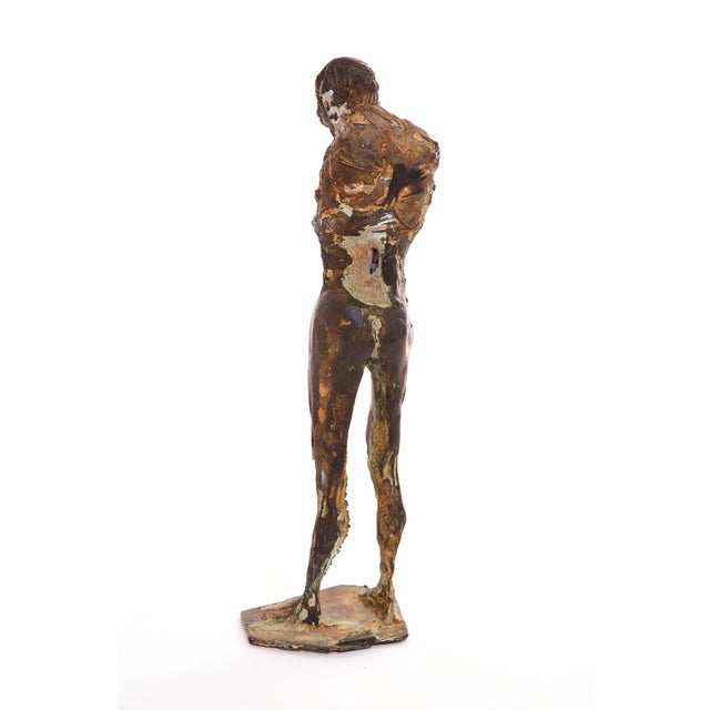 Mid-Century Modern 1970s Figurative Bronze Sculpture by Carl Dahl For Sale - Image 3 of 5