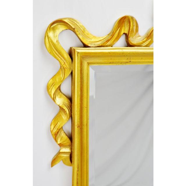 Vintage Carolina Mirror Company Gilt Framed Bow Top Beveled Mirror ...