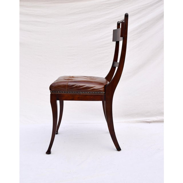 Henredon Henredon Hanover Tufted Leather Dining Chairs, Pair For Sale - Image 4 of 13