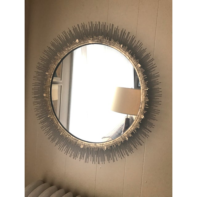 Crate & Barrel Clarendon Round Wall Mirror - Image 4 of 4