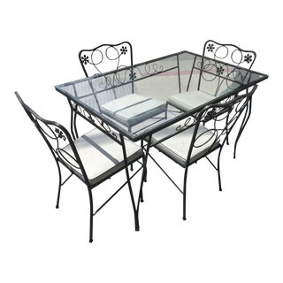 Wrought Iron Patio Table & Chairs For Sale