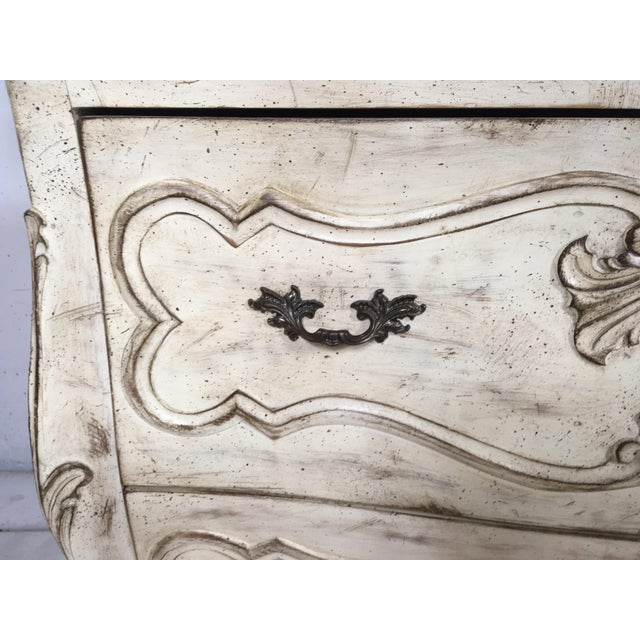 Carved Louis XV Style Painted Chest - Image 3 of 8
