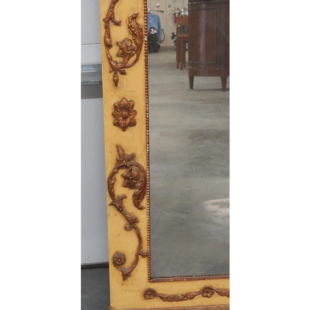 Neoclassical Style Paint Decorated Console & Mirror For Sale - Image 10 of 13