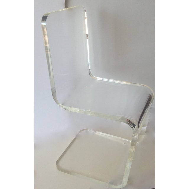 Vintage Lucite Sculptural Accent Chair For Sale - Image 11 of 11