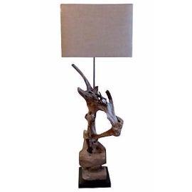 Custom Driftwood Floor Lamp For Sale
