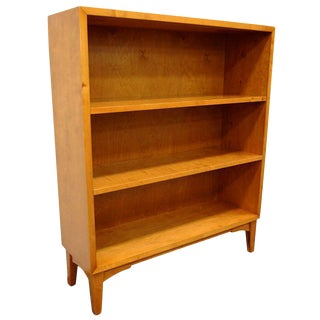 Swedish Art Moderne Golden Flame Birch Bookcase For Sale