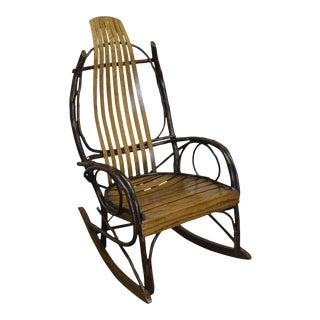 Vintage Bent Wood Hickory & Oak Twig Rocker