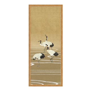 Cranes by Paul Montgomery in Gold Frame, Medium Art Print For Sale