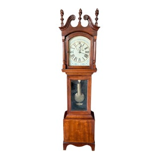 Antique Massachusetts Dwarf Federal Style Floor Clock For Sale