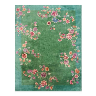 1920s Antique Chinese Art Deco Rug-8′8″ × 11′4″ For Sale