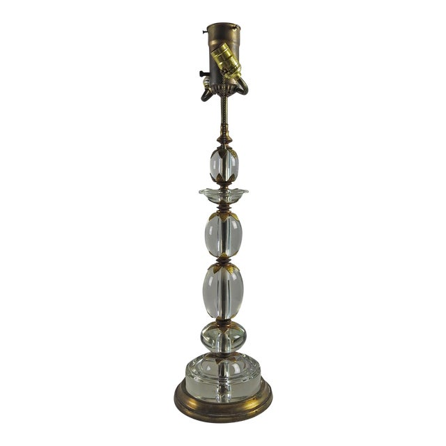 Crystal Bead Stacked Table Lamp For Sale