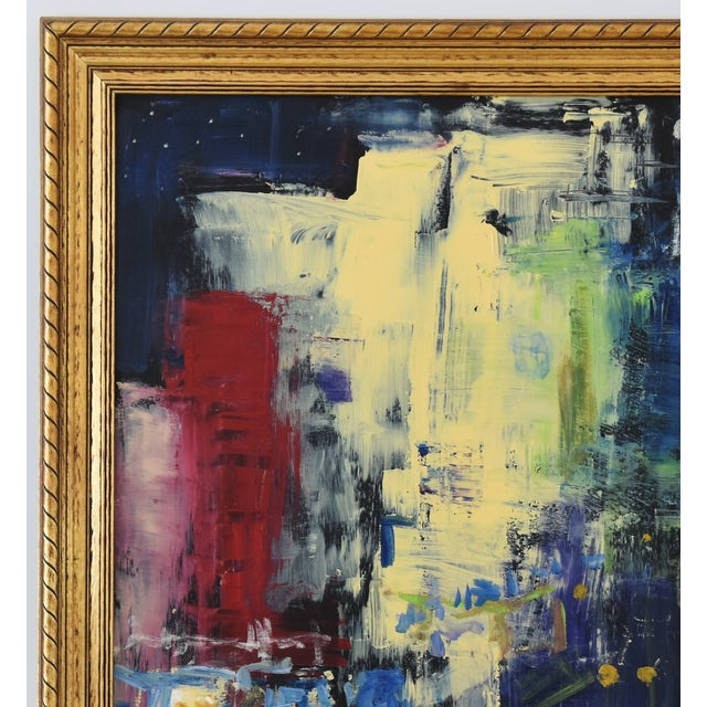 Juan Guzman Los Angeles Cityscape Abstract Painting For Sale In Los Angeles - Image 6 of 10