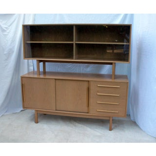 1960s Danish Modern Buffet With Floating Hutch in Cerused Teak Preview