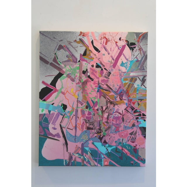 I Just Got Nothing, acrylic, ink, pen, and spraypaint on Canvas, 20x16, 2017. Yasemin Kackar Demirel is an emerging...