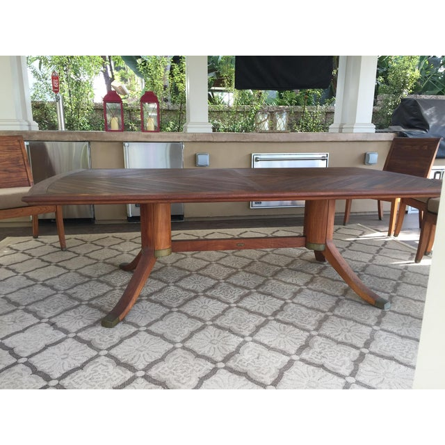 Gloster Teakwood 9 Piece Dining Set - Image 5 of 9