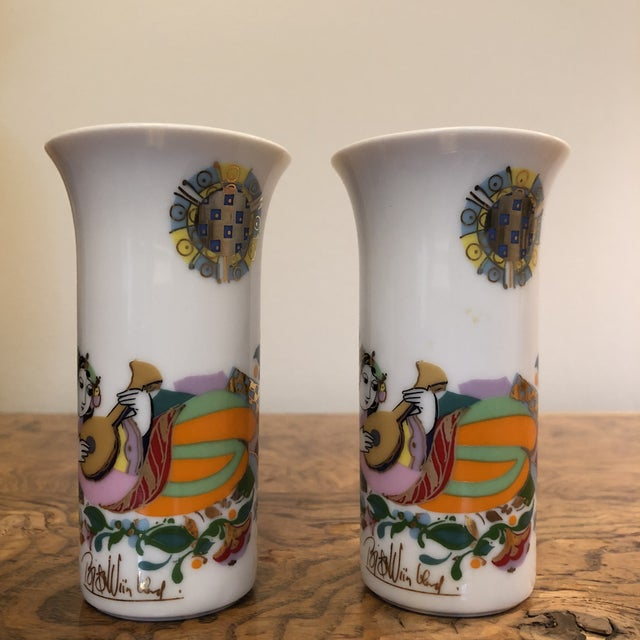 1970s Pair of Cordial Glasses by Bjorn Wiinblad For Sale - Image 5 of 11