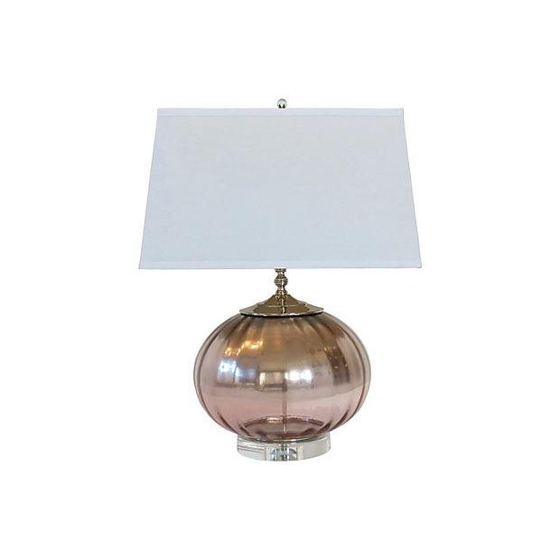 Ombre Pink Mercury Glass Globe Lamp - Image 1 of 3
