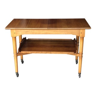 1970s Traditional Stickley Rolling Cherry Server For Sale
