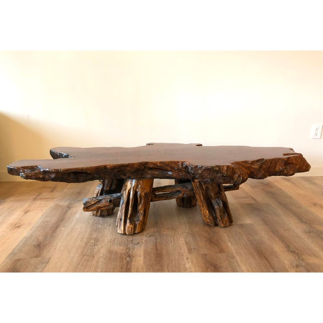 Vintage Boho Chic Beefy Low-Profile Witco Style Raw Edge Coffee Table For Sale - Image 13 of 13