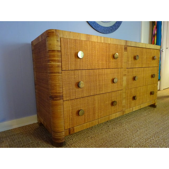 Vintage Bielecky Brothers Cane Double Chest For Sale - Image 4 of 6
