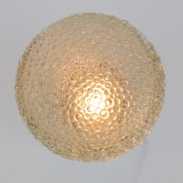 1970s Large Glass Outdoor Wall Lamp, Germany For Sale - Image 11 of 13