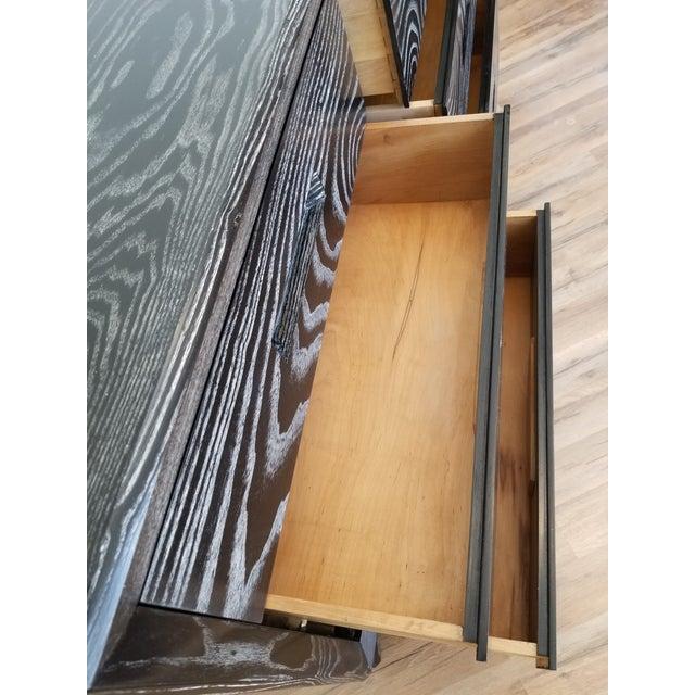 Wood Mid Century Black Ceruse Dresser For Sale - Image 7 of 13