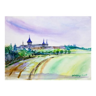 Landscape watercolor For Sale