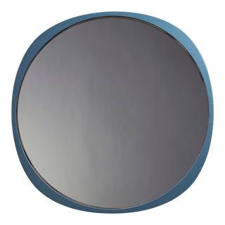 Contemporary Petrol Blue Frame Smoke Fade Mirror For Sale