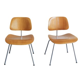 Original Evans Herman Miller Eames DCM Chairs - A Pair