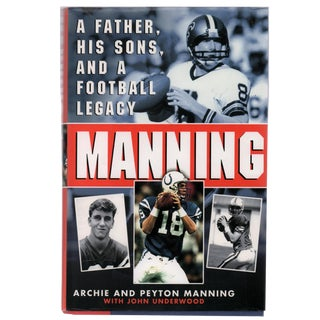"""2000 """"Signed Edition, Manning: Father, Sons & a Football Legacy"""" Collectible Book For Sale"""