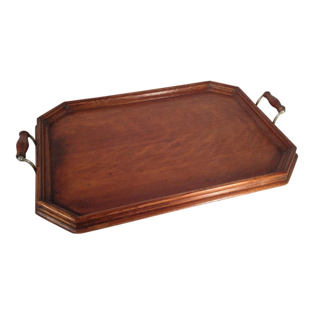 English Wood Serving Tray - Image 1 of 3