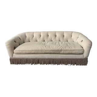 Custom Cream French-Style Tufted Down Sofa