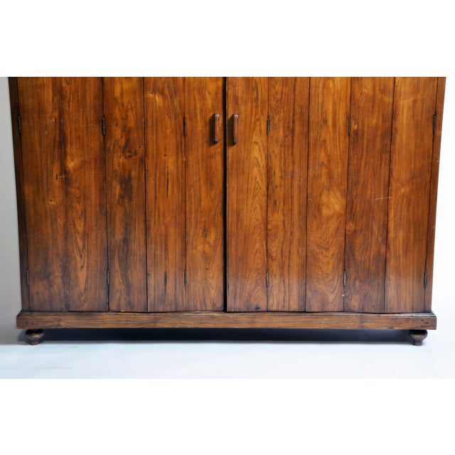 1940s Art Deco Cabinet With Five-Panel Folding Doors From Burma For Sale - Image 5 of 13