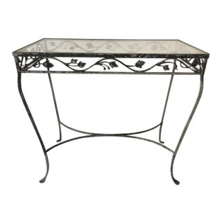Vintage Wrought Occasional Outdoor Table For Sale