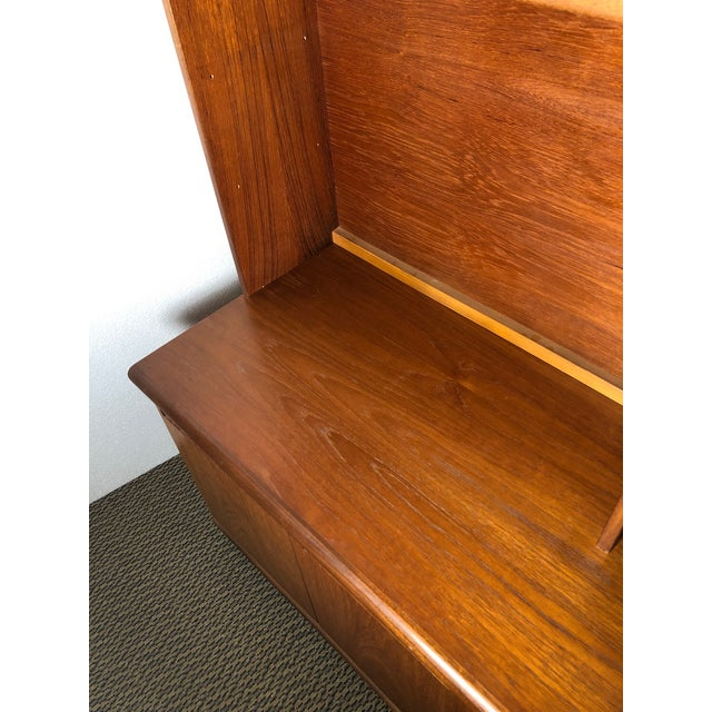 Wood Midcentury Teak Wall Unit by Meredew For Sale - Image 7 of 13