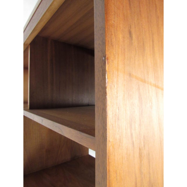 Mid-Century Walnut Bookcase or Wall Unit For Sale - Image 12 of 13