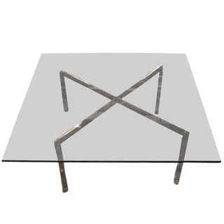 Mies Van Der Rohe Smoked Glass Coffee Table