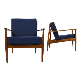 Grete Jalk Easy Chairs by France & Son - a Pair