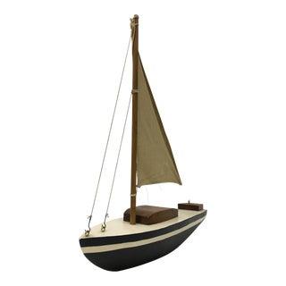 Vintage Handcrafted Wooden Sale Boat Model For Sale